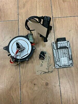 DUCATI M696 + ABS (2012) - LOCK SET  IGNITION BARREL 2 x LOCKS KEY & ECU