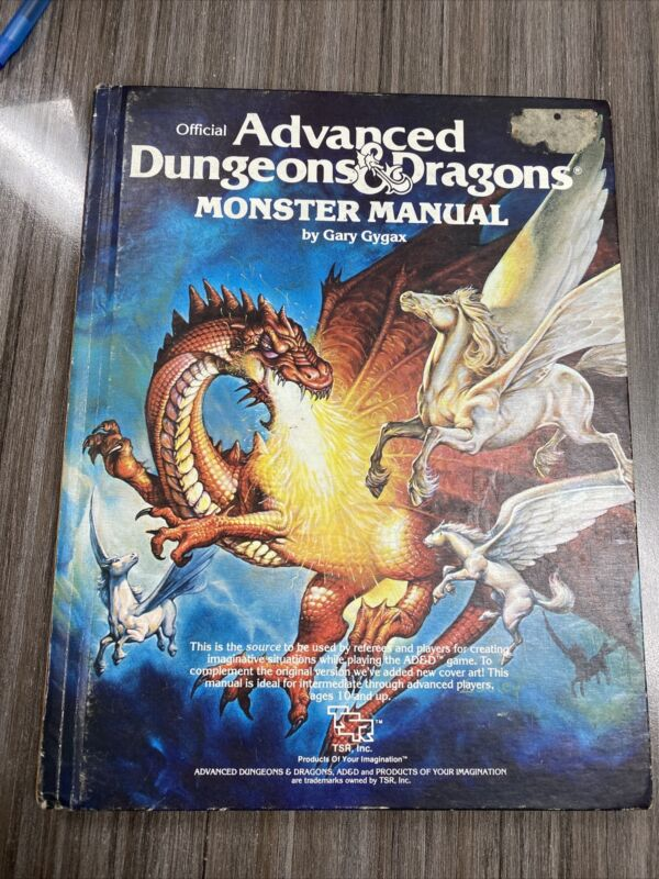 Advanced Dungeons And Dragons D&D Monster Manual 1979 Hardcover