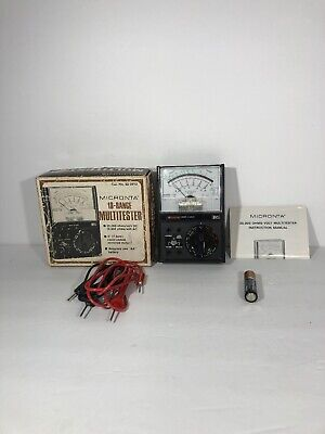 Vintage Micronta 18-range Multitester Radio Shack No. 22-201u W Box Manual