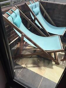 Set of 2x outdoor Freedom sun lounge chairs Paddington Eastern Suburbs Preview