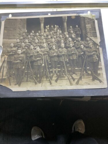 WW I Era Military Photograph Soldiers  GREAT PHOTO