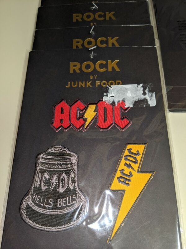 AC/DC band/rock/metal patches... Brand new in sealed package 3 separate patches.