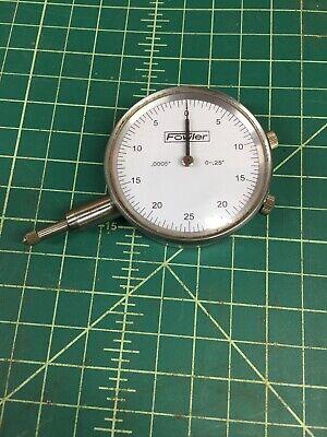 Fowler Dial Indicator 0.0005 0-.25