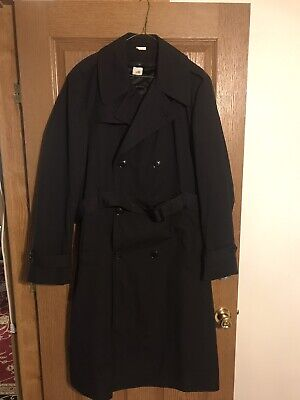 Womens Black US ARMY ASU Dress Issue All weather Coat Trench Raincoat NWT