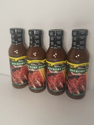 Walden Farms Calorie Free  Hickory BBQ Sauce,lot of (4) 12 oz. Bottles.