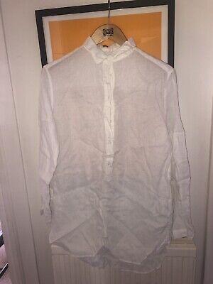 Uniqlo White Linen Shirt Size L BNWT