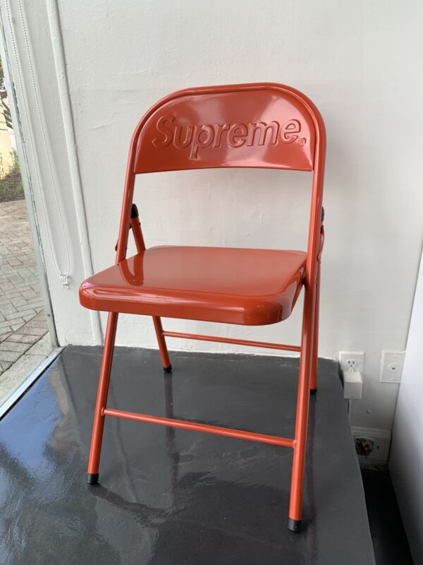 Supreme Metal Folding Chair-Red FW20 IN HAND