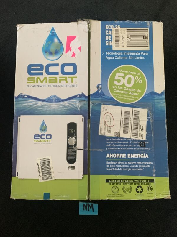Electric Water Heater EcoSmart 36 kW 240-Volt 6 GPM Self-Modulating Tankless