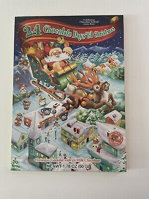 24 Chocolate Days Til Christmas Advent Santa Sleigh Countdown Calendar New