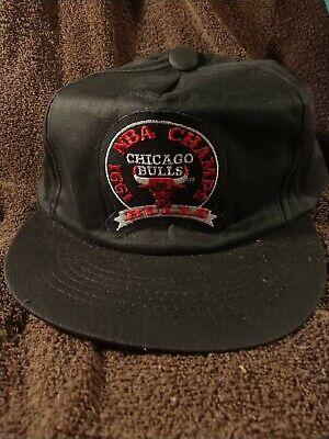 Chicago Bulls 1991 NBA Champs Hat Cap Basketball Adjustable Snapback Vintage
