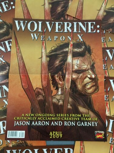 12 Comic Promo Posters Wolverine Weapon X April 2009 Marvel