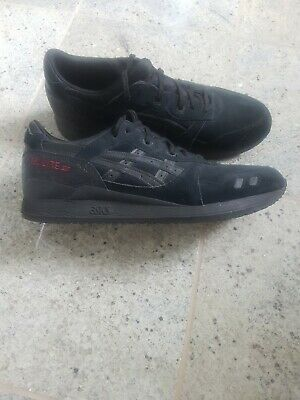 Mens asics gel lyte iii UK 12 Black Suede