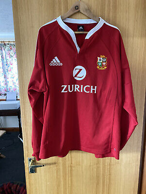 British and Irish Lions Adidas Rugby Shirt XXL VGC New Zealand 2005 Zurich
