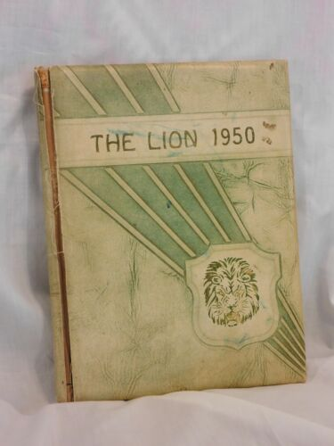 1950 The Lion Greenville TX High School Yearbook