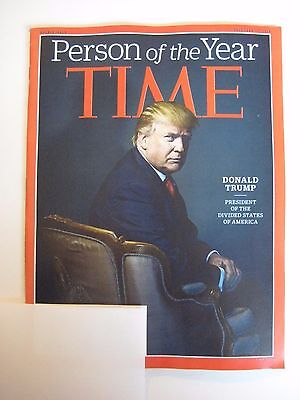 Time Magazine December 19 2016 Double Issue - Person of the Year Donald Trump