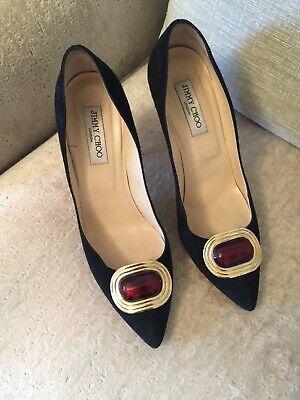 Gorgeous Jimmy Choo Black Suede Shoes. 41 RRP £565 Total Bargain £140