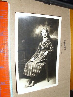 Vintage RPPC Real Photo Postcard Girl hazel McCain Young lady 1920's dress shoes - Ladies Shoes 1920s