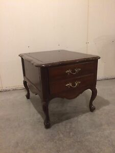Large Brown End Table