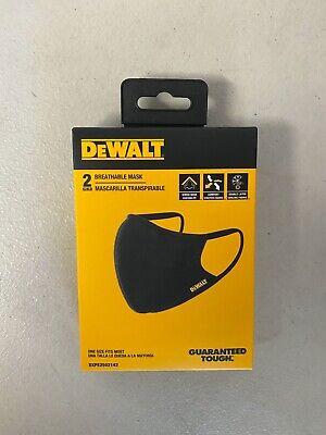 DeWalt DXPE2502142 Breathable Face Mask, 2 Pair, Black