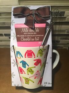 HOT CHOCOLATE COCOA AND CHRISTMAS SWEATER MUG