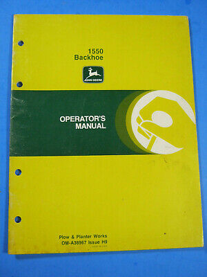 John Deere 1550 Backhoe Operators Manual
