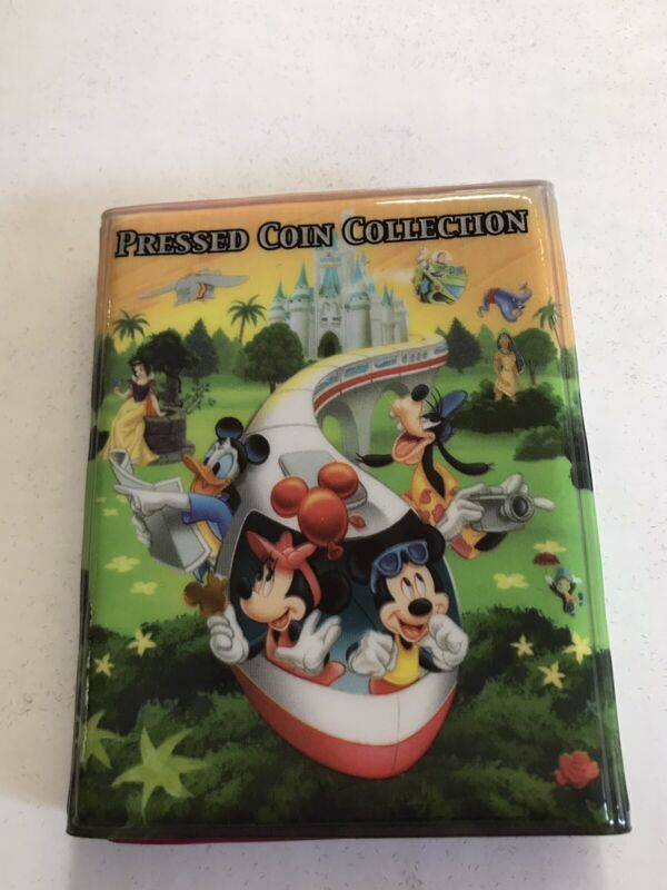 DISNEY PRESSED COIN COLLECTION 37 PRESSED COINS WITH HOLDER SPLASH MOUNTAIN