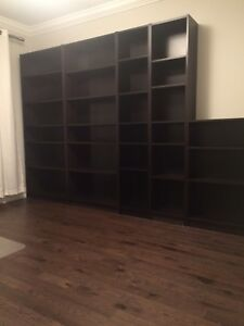 IKEA Billy bookcases black brown (5 bookcases)