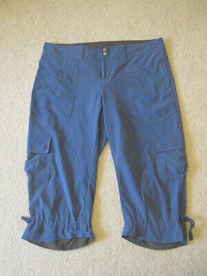 Athleta Women Dipper Pants Capri Hiking Cargo Lightweight Light Blue - Size 4