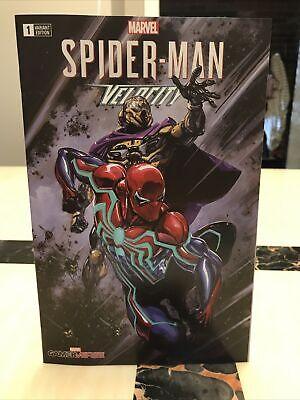 Spider-Man Velocity 1 Marvel Variant Clayton Crain Limited 1000 w/COA 2019 Comic