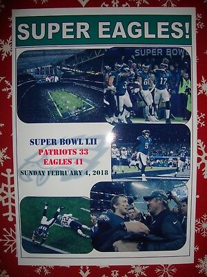 Philadelphia Eagles 41 New England Patriot 33 - 2018 Super Bowl - souvenir print
