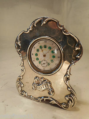 Miniature Silver Clock