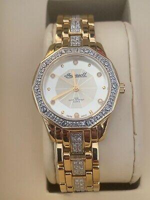 ingersoll DIAMOND women watch IG0571 model 18 carat gold plated