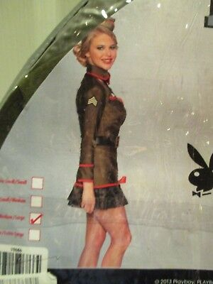 PLAYBOY CORPORAL CUTIE Womens Size M/L Military HALLOWEEN COSTUME NEW