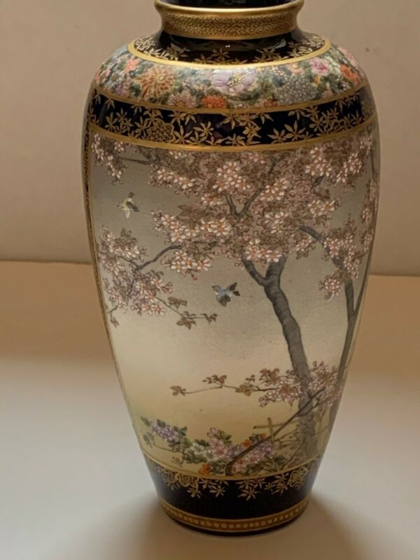 Exquisite Japanese Satsuma Pottery Vase - Kinkozan - Circa 1870 - Magnificent!