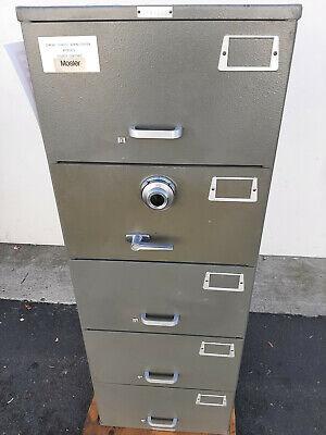 Steel Safe Mosler Heavy Duty Gsa 5-drawer Safe 630 Lbs Color Dark Grey