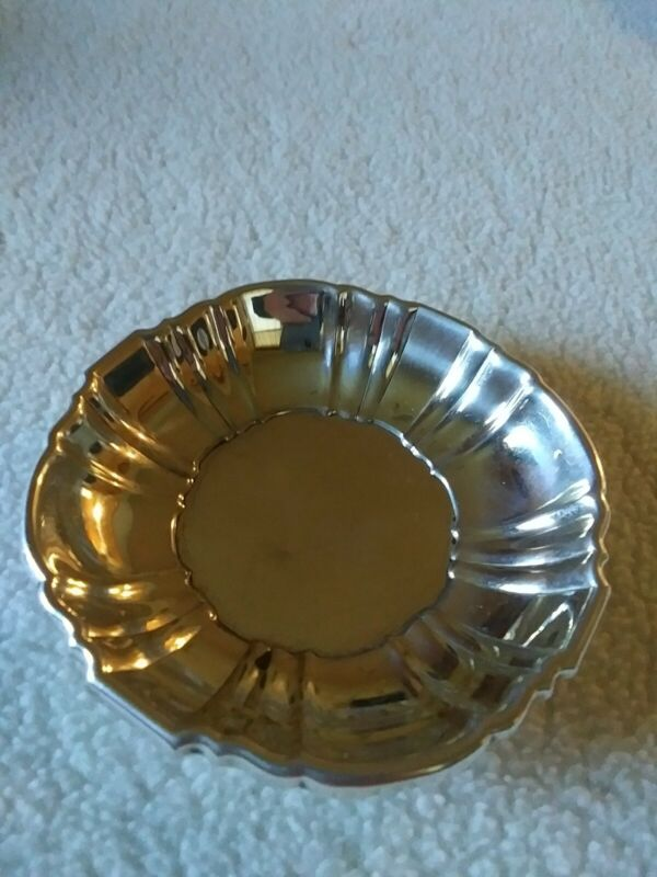 """Poole Sterling Silver Nut Dish #240 Measures 3 1/8"""" Across"""
