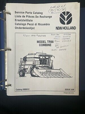 New Holland Service Parts Catalog Model Tr98 Combine 1419 1677