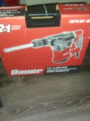 New Bauer Rotary Hammer Kit Sds Max-type Pro Variable Speed 11a 1643e-b