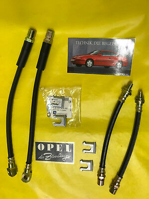 New Set 4 Brake Hose Front  Rear for all Vauxhall Calibra Incl Clamps