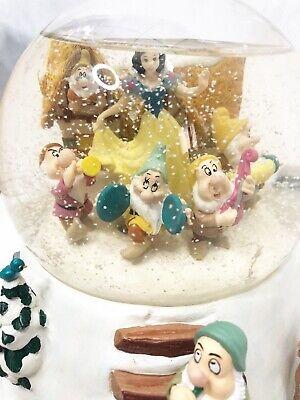 Disney Snow White and the seven dwarfs Mr. Christmas snow globe animated music