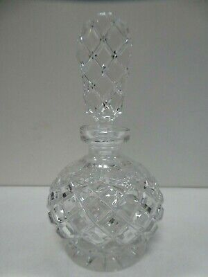 VINTAGE CUT GLASS SCENT PERFUME BOTTLE ART DECO