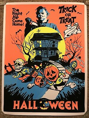 John Carpenter Halloween Michael Myers BlackLight Art Print Poster Mondo Movie