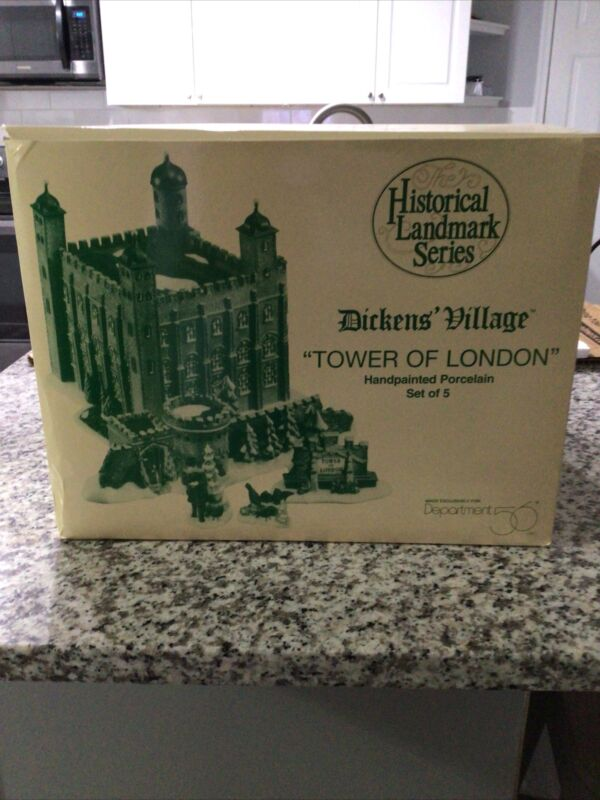 Dept 56 Heritage Village TOWER OF LONDON Historical Landmark Series MIB! # 58500