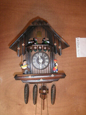 Cuckoo Clock Black Forest  SEE VIDEO Musical Chalet 1 Day CK2300 Black Forest Chalet Cuckoo Clock