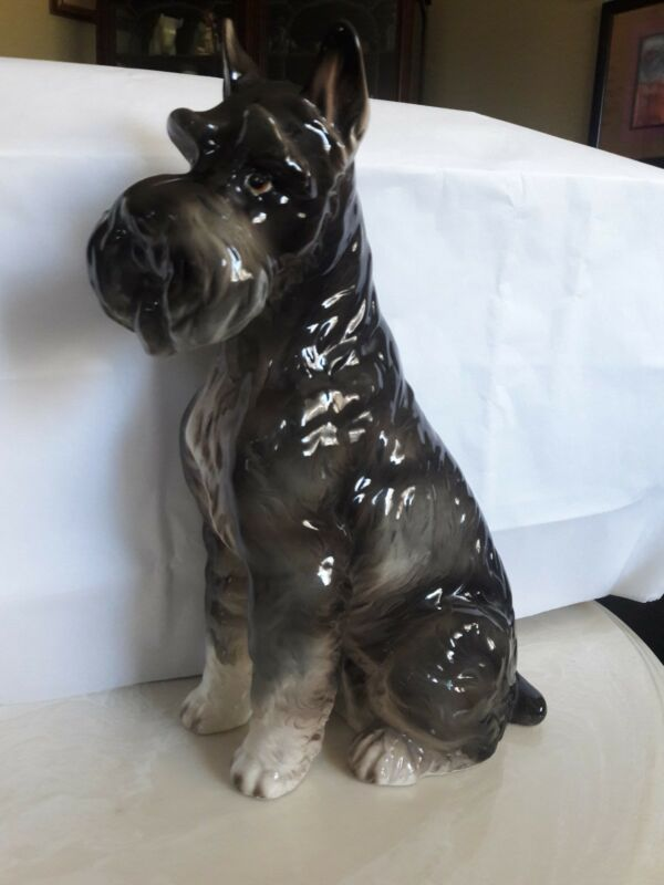 "Vintage Large Schnauzer Made By Shafford 12"" tall"