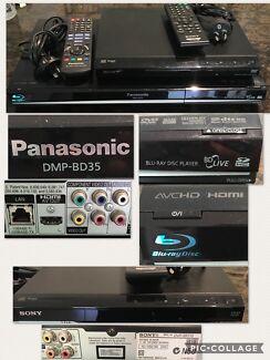 PANASONIC BLU RAY DISC PLAYER & SONY DVD PLAYER EC