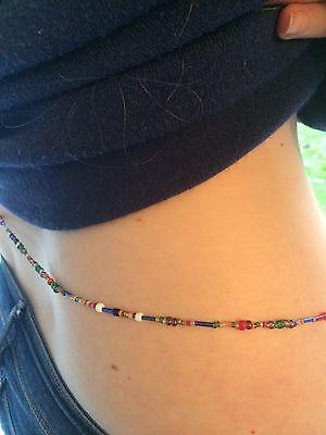 African  Rainbow Waist Bead Single Strand Body Jewellery ALL SIZES AVAILABLE
