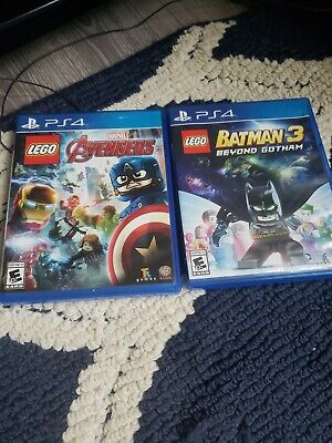 Lego Avengers And Lego Batman 3 Beyond Gotham Ps4 Games 2 Packing