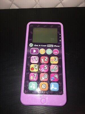 Leapfrog Chat & Count Emoji Phone Green Toy Cell Mobile Educational