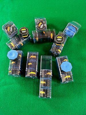 (3) Pieces Of Predator 1080 Chalk & (1) Billiard Pool Cue Chalk Holder Case